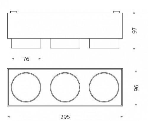 Mawa Wittenberg 4.0 Deckenleuchte halbbündig 3-flammig LED Grafik