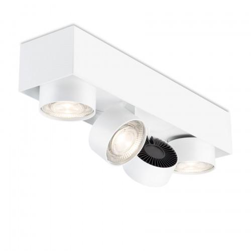 Mawa Wittenberg 4.0 Deckenleuchte halbbündig 4-flammig LED weiß