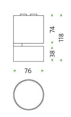 Mawa Wittenberg 4.0 Fernrohr Deckenleuchte LED Grafik