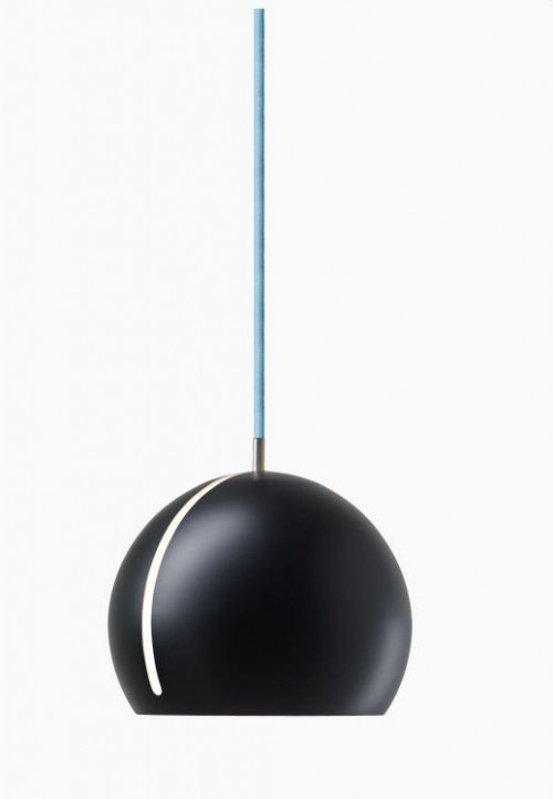 Nyta Tilt Globe schwarz, Kabel blau