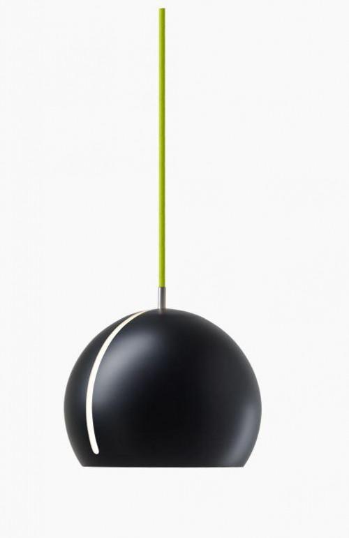 Nyta Tilt Globe schwarz, Kabel grün