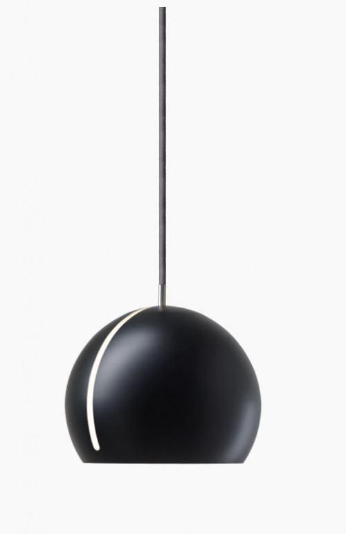 Nyta Tilt Globe schwarz, Kabel grau