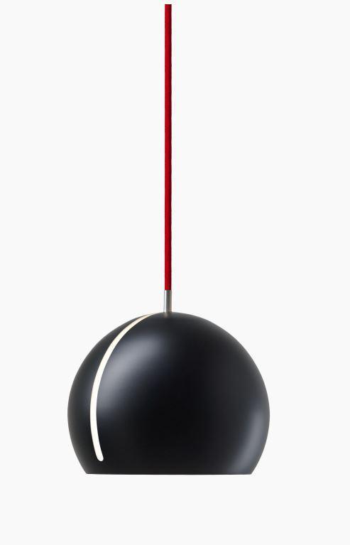 Nyta Tilt Globe schwarz, Kabel rot