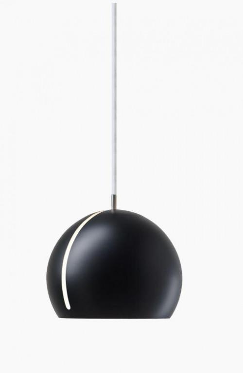Nyta Tilt Globe schwarz, Kabel weiß