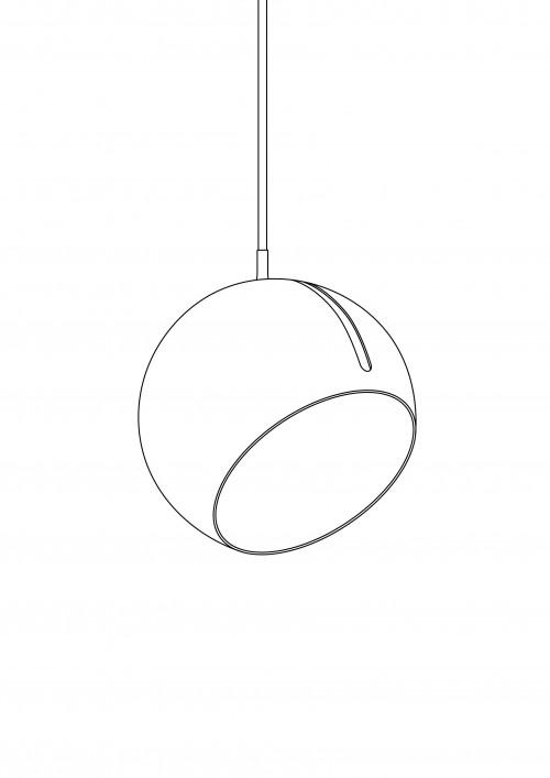 Nyta Tilt Globe Brass Grafik Öffnung am Schirm