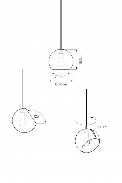 Nyta Tilt Globe Brass Grafik