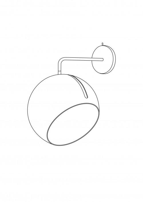Nyta Tilt Globe Wall Brass Grafik