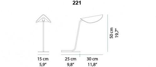 Oluce Plume 221 Grafik