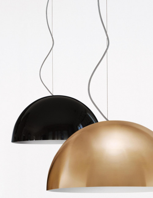 Oluce Sonora 408 schwarz und gold