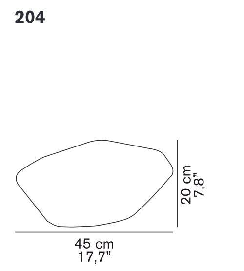 Oluce Stone of Glass 204 Grafik