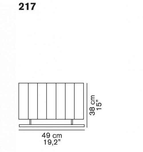 Oluce Pin Stripe 217 Ersatzteil