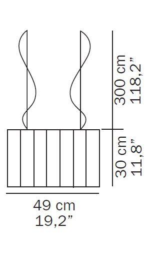 Oluce Pin Stripe 417 Ersatzteil