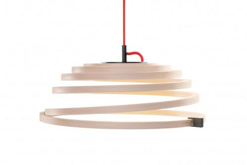 Secto Design Aspiro 8000 Birkenholz Natur rotes Kabel