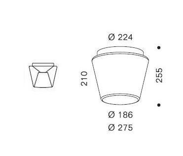 Serien Lighting Annex Ceiling Halogen Klar/ Opal Grafik L (auf der linken Seite: der Reflektor)