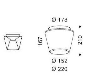 Serien Lighting Annex Ceiling Halogen Klar/ Opal Grafik M (auf der linken Seite: der Reflektor)