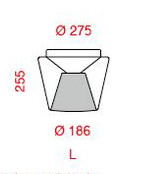 Serien Lighting Annex Ceiling Halogen klar/ Alu poliert Grafik L