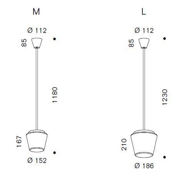 Serien Lighting Annex Suspension LED klar/ Kristall