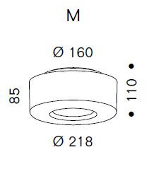 Serien Lighting Curling Ceiling Acryl klar / konisch opal M Grafik