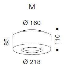 Serien Lighting Curling Ceiling Acryl klar / zylindrisch opal M Grafik