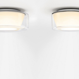 Serien Lighting Curling Ceiling Acryl klar / konisch opal S (auf der rechten Seite)