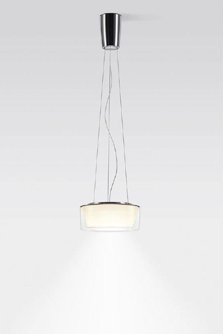 Serien Lighting Curling Suspension Rope Acryl klar / konisch opal S