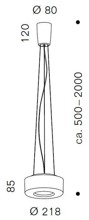 Serien Lighting Curling Suspension Rope Acryl klar / zylindrisch opal M Grafik