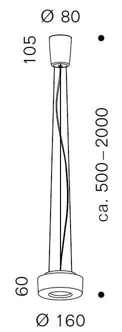 Serien Lighting Curling Suspension Rope Acryl klar / konisch opal S Grafik