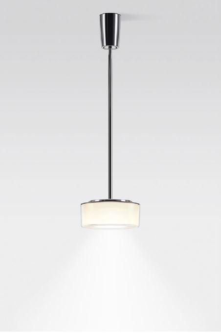 Serien Lighting Curling Suspension Tube Acryl klar / zylindrisch opal M