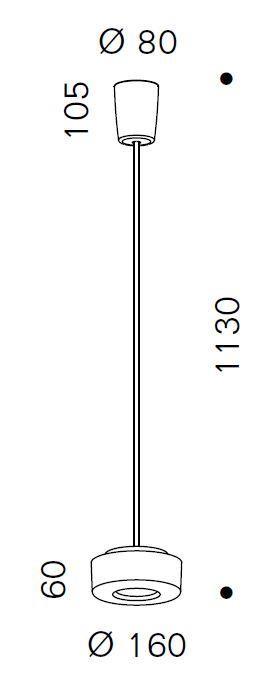 Serien Lighting Curling Suspension Tube Acryl klar / konisch opal S Grafik