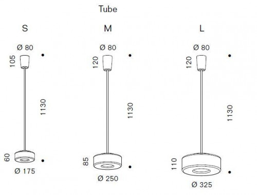 Serien Lighting Curling Suspension Tube LED klar/konisch opal EU Energieausweis