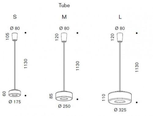 Serien Lighting Curling Suspension Tube LED opal Grafik