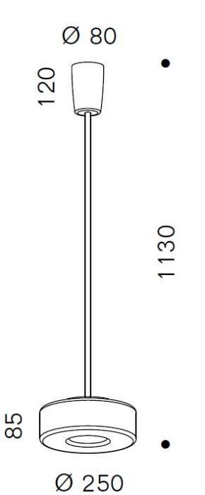 Serien Lighting Curling Suspension Tube neusilber M Grafik