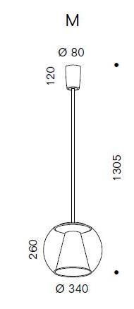 Serien Lighting Draft Suspension Tube M Grafik