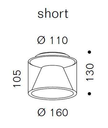Serien Lighting Drum Ceiling S Short Grafik