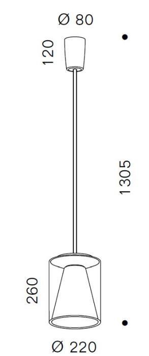 Serien Lighting Drum Suspension Tube M Long Grafik