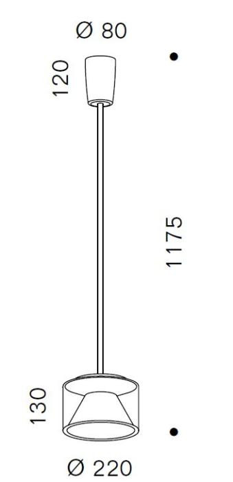 Serien Lighting Drum Suspension Tube M Short Grafik