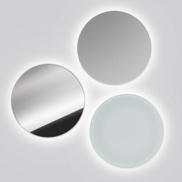Serien Lighting Lid IP44 spiegel, silber und opal (im Uhrzeigersinn)