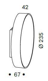 Serien Lighting Spiegeladapter Set für Lid und Lid IP44