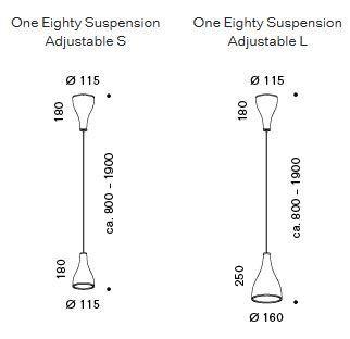 Serien Lighting One Eighty Suspension Adjustable Baldachin Grafik
