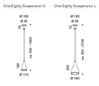 Serien Lighting One Eighty Suspension Baldachin Grafik