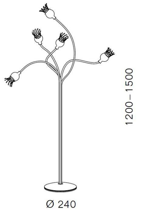Serien Lighting Poppy Floor 5 arme Grafik