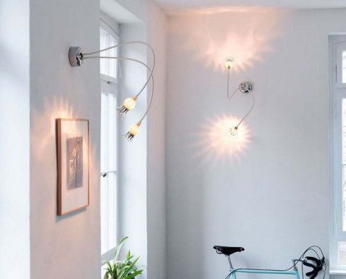 Serien Lighting Poppy Wall/ Ceiling 2 arme beige, Schirme Keramik