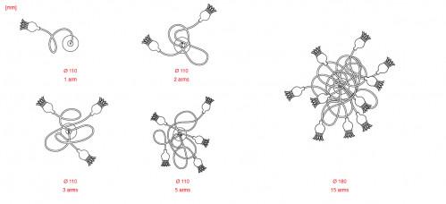 Serien Lighting Poppy Wall Grafik