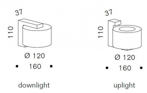 Serien Lighting Spiegeladapter Set für Reef Wall Halogen und LED