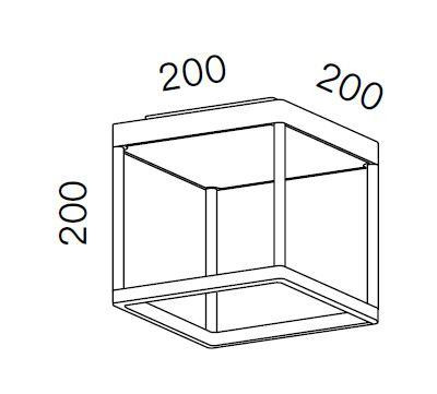 Serien Lighting Reflex2 Ceiling S200 Grafik