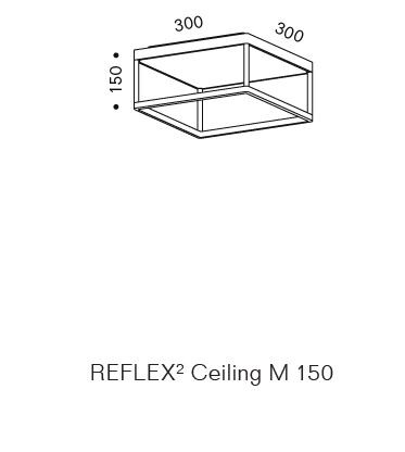 Serien Lighting Reflex2 Ceiling M150 Rahmenstruktur Grafik
