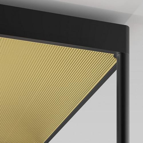 Serien Lighting Reflex2 Ceiling M300, Rahmenstruktur schwarz-Reflektor gold