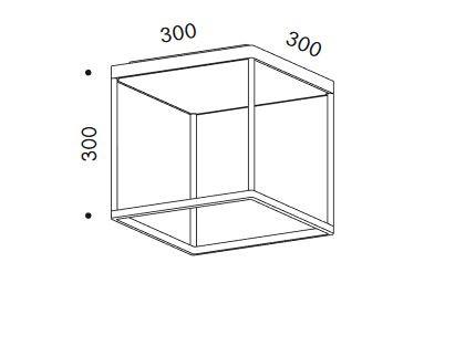 Serien Lighting Reflex2 Ceiling M300 Rahmenstruktur Grafik