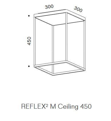 Serien Lighting Reflex2 Ceiling M450 Rahmenstruktur Grafik