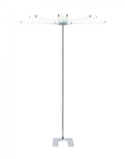 Serien Lighting Slice2 Floor glanzverchromt, schwenkbarer Leuchtenkopf